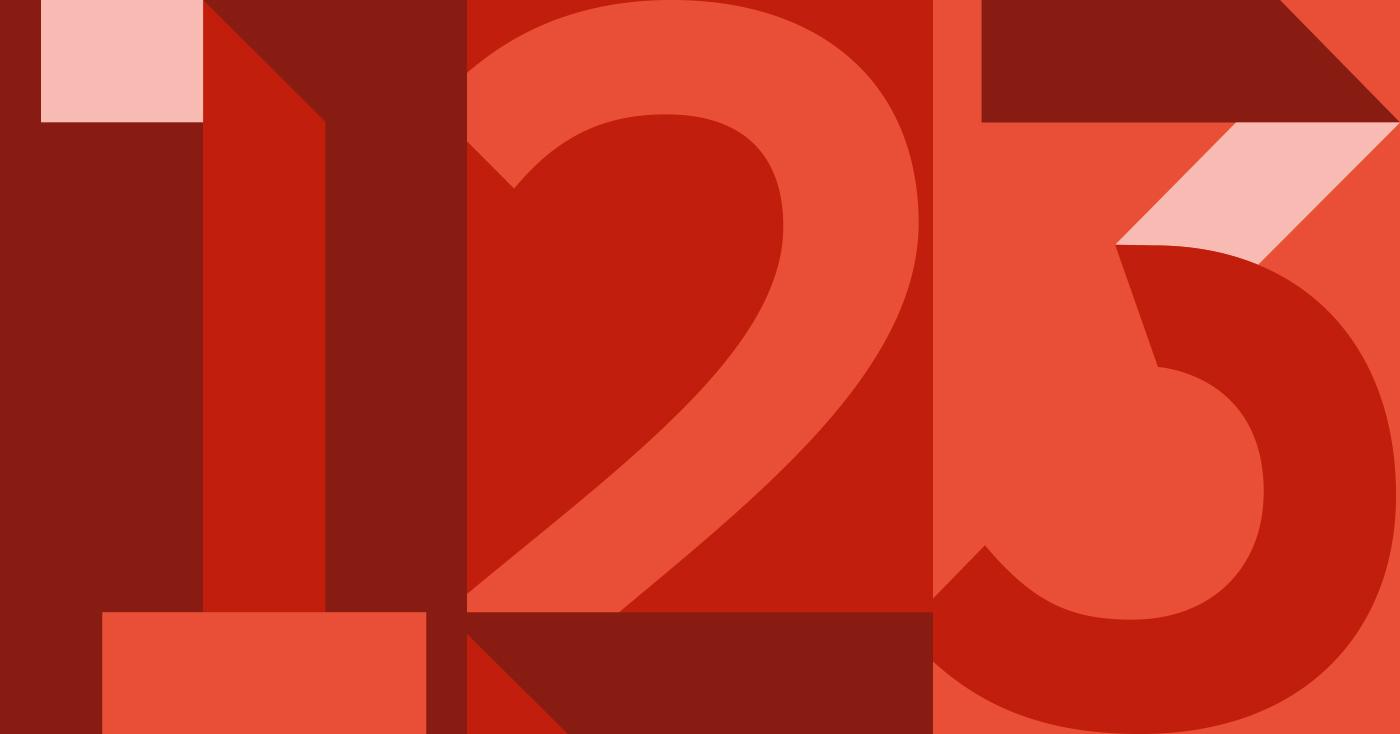 Die Illustration der Zahlen der Kapitel 1-3