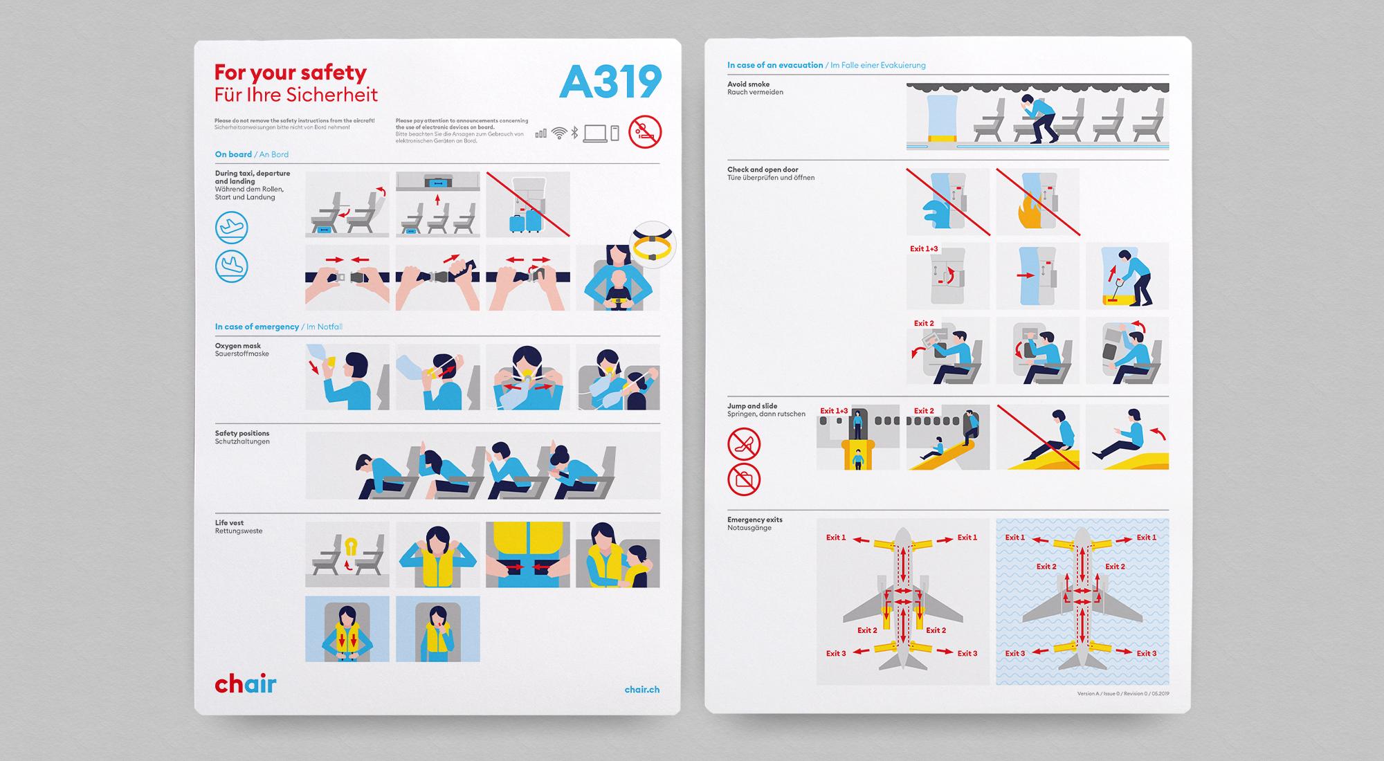 Neues Design der Safety Cards mit komplett neuen Illustrationen